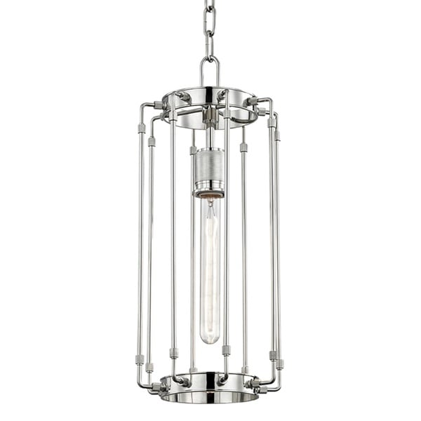 Hudson Valley Hyde Park 1-Light Polished Nickel Pendant