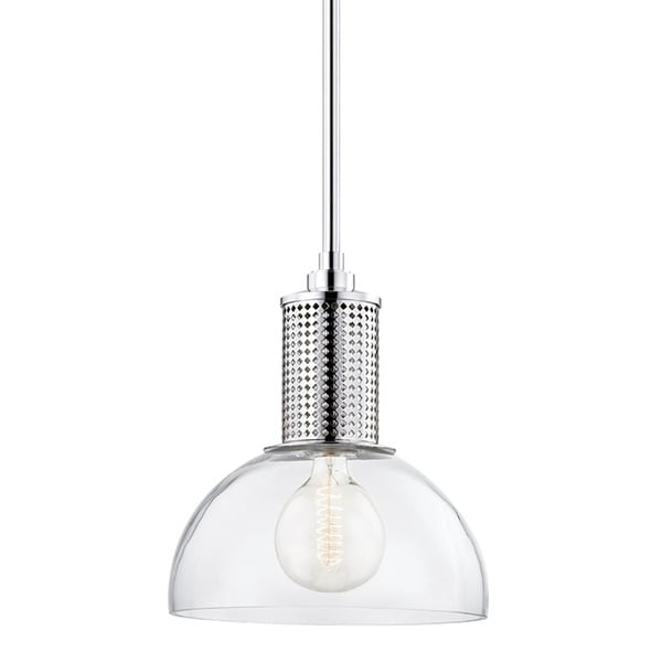 Hudson Valley Halcyon Polished Nickel 16-inch Pendant