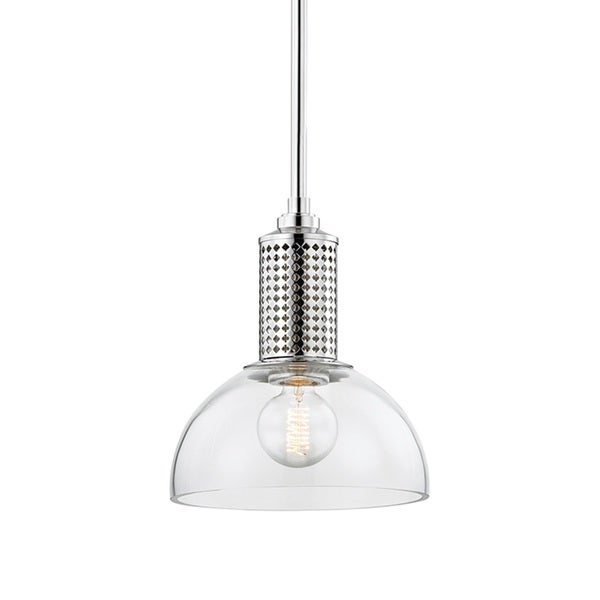 Hudson Valley Halcyon Polished Nickel 12-inch Pendant
