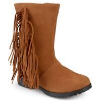 Journee Kids 'Luzie' Round Toe Fringed Boots