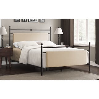 Lena Upholstered Queen-size Metal Bed
