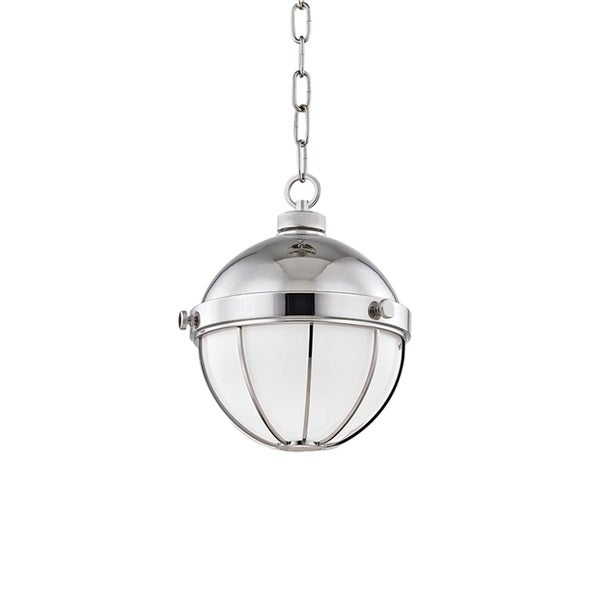 Hudson Valley Sumner Polished Nickel 9-inch Pendant
