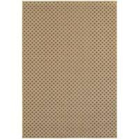 StyleHaven Lattice Brown/ Sand Indoor-Outdoor Area Rug - 5'3 x 7'6