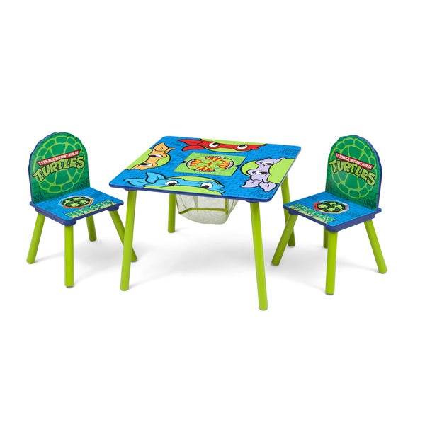 Nickelodeon Teenage Mutant Ninja Turtles Table u0026&; Chair Set with Storage - Multi  sc 1 st  Overstock.com & Nickelodeon Teenage Mutant Ninja Turtles Table u0026 Chair Set with ...