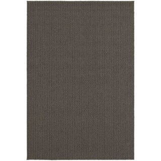 StyleHaven Solid Charcoal/ Grey Indoor-Outdoor Area Rug (5'3x7'6)