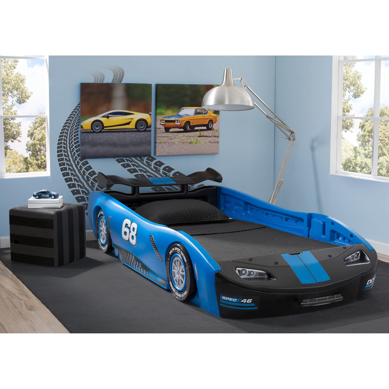 Blue Delta Children Turbo Race Car Twin Bed Overstock 12369072