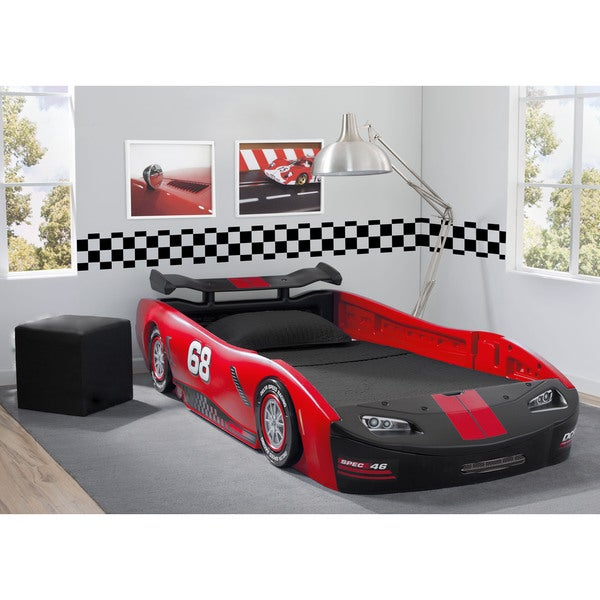 Shop Delta Children S Red Turbo Race Car Twin Bed Free