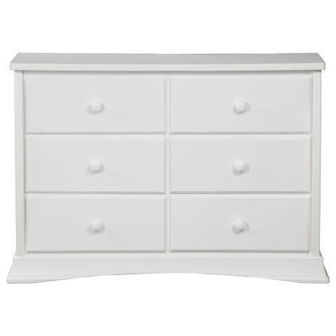 Delta Children Bentley White Wood 6-drawer Dresser