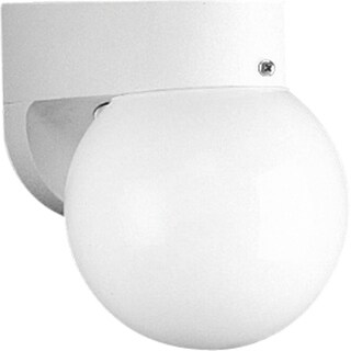 Progress Lighting White Polycarbonate 1-light Outdoor Wall Bracket