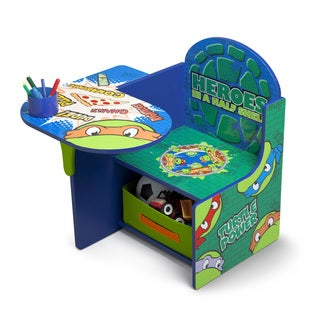 Delta Nickelodeon Teenage Mutant Ninja Turtles Chair Desk with Storage Bin