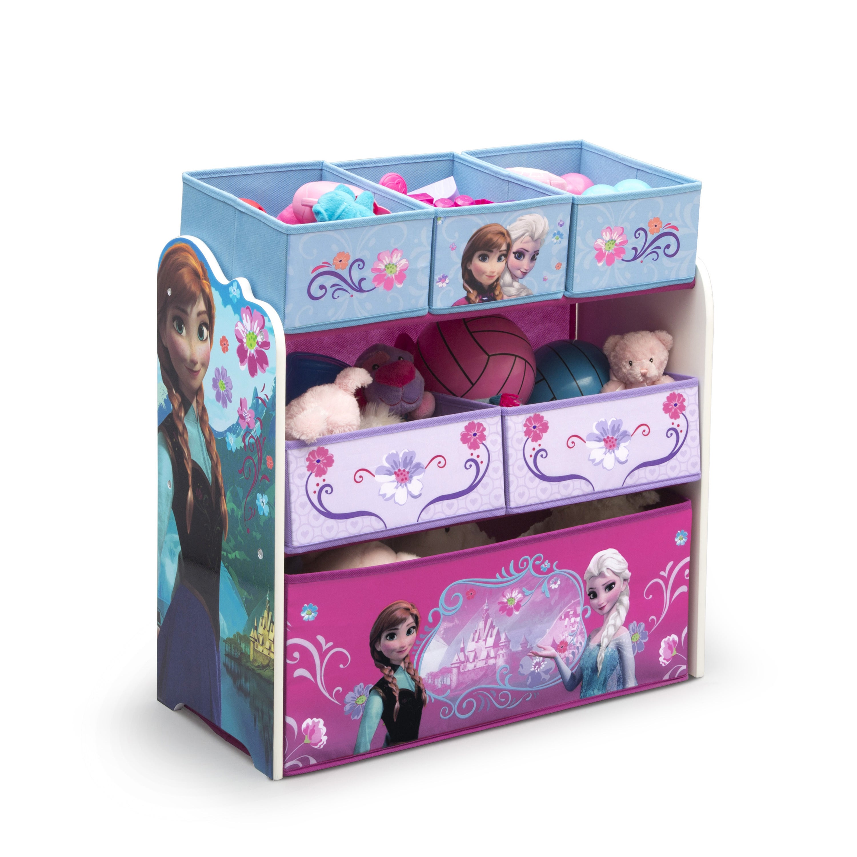 Delta Disney Frozen Multibin Toy Organizer (Frozen), Blue
