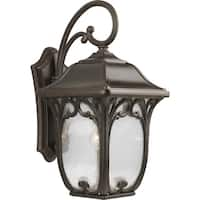 Progress Lighting Enchant Brown Aluminum 11-inch One Light Wall Lantern