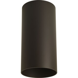 Progress Lighting Bronze Aluminum Cylinder One Light Wall Bracket