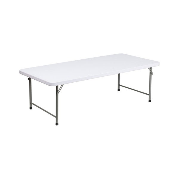 Offex granite white plastic 19 inches high x 30 inches for Dining room tables 38 inches wide