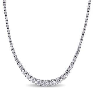 Miadora Signature Collection 18k White Gold 10 2/5ct TDW Diamond Chain Necklace (G-H, SI1-SI2)