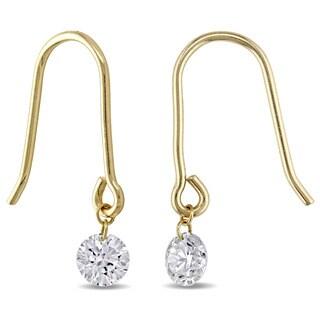 Miadora 18k Yellow Gold 1/3ct TDW Diamond Hook Earrings (J-K, SI1-SI2)