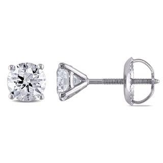 Miadora Signature Collection 14k White Gold 1ct TDW Diamond Martini-style Stud Earrings