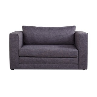 Ava Modern Reversible Fabric Loveseat and Sofa Bed