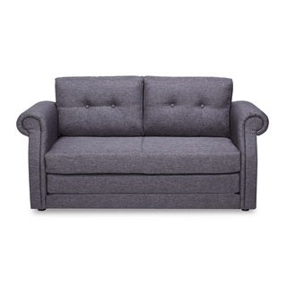 Modern Reversible Fabric Loveseat and Sofa Bed