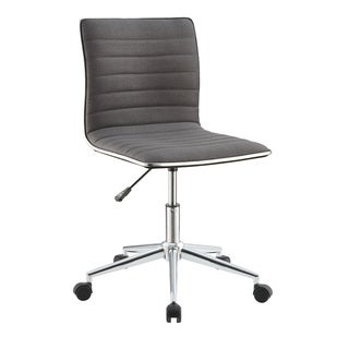 Grey/Chrome Contemporary Office Chair