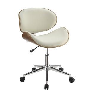 White Wood and Veneer Office Chair