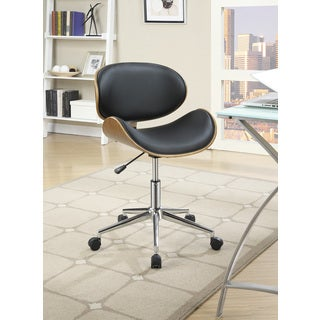 Coaster Black Low-backk Rolling Adjustable-height Office Chair