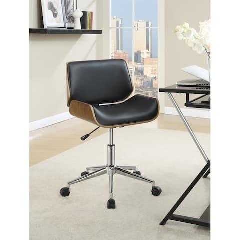 "Coaster Company Contemporary Black Wood/Veneer Office Chair - 25.50"" x 25.50"" x 29.75"""