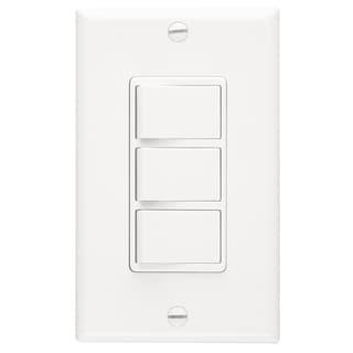 Broan P66W White 3-Function Fan Control Switch
