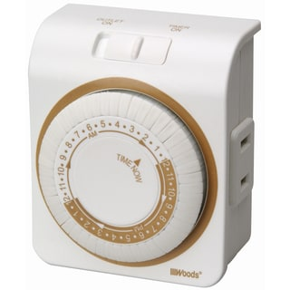 Woods 50000 White 24 Hour Lamp & Appliance Timer