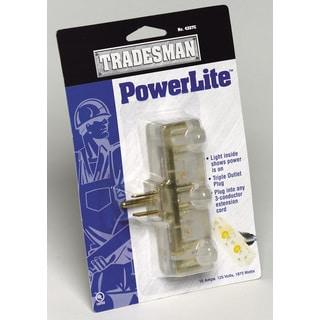 Coleman Cable 04327C PowerLite Triple Outlet Plug