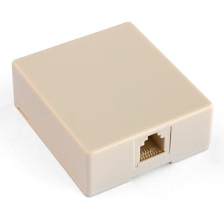 Black Point Products Inc BT-039-IVORY 4 Conductor Ivory Telephone Wall Jack