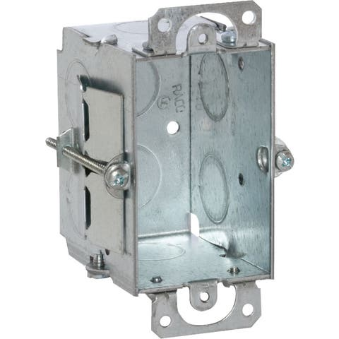 Raco 3 in. H Rectangle 1 Gang Switch 1/2 in. Gray Steel