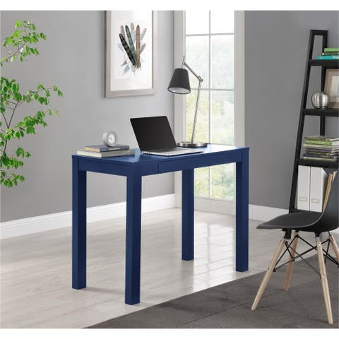 Ameriwood Home Parsons Navy Desk with Drawer