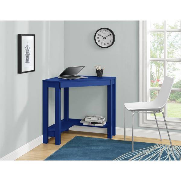 Ameriwood Home Parsons Blue Corner Desk Free Shipping