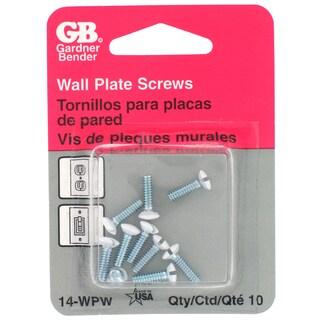 GB Gardner Bender 14-WPW White Wallplate Screws