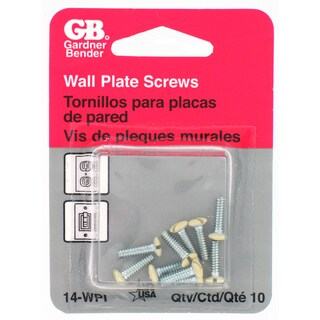 GB Gardner Bender 14-WPI Ivory Wallplate Screws