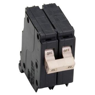 "Eaton CHF220CS 1-1/2"" 20 Amp Cutler Hammer Double Pole Circuit Breaker"