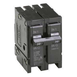 "Eaton BR250 2"" 50 Amp Double Pole Interchangeable Circuit Breaker"