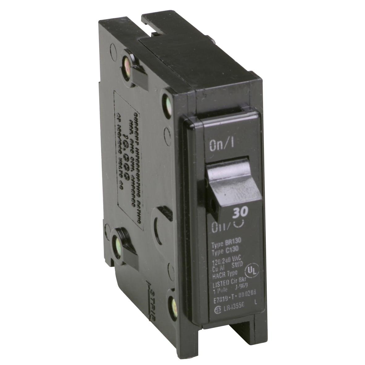 Eaton BR130 30 Amp Single Pole Circuit Breaker (Switches&...