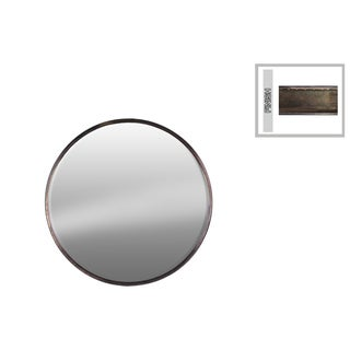 Urban Trends Collection Bronze Metal Small Round Wall Mirrror - Antique Bronze - A