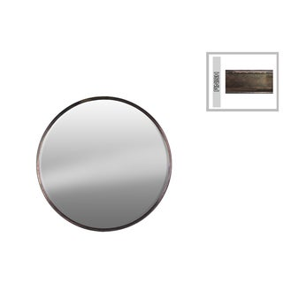 Urban Trends Collection Bronze Metal Small Round Wall Mirrror