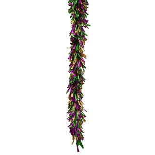 Mardi Gras Foil 8.5-feet x 8-inches Garland