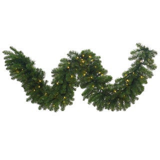 25-foot Grand Teton Garland with 400 White LED Lights