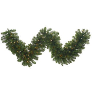 9-foot x 24-inch Grand Teton Garland with 150 Clear Dura-Lit Lights