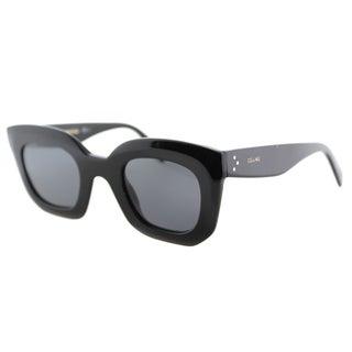 Celine CL 41091 /S 807 Black Plastic Square Cat Eye Grey Lens Sunglasses