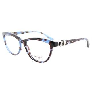 Coach HC 6087 5392 Blue Tortoise Plastic Cat-Eye Eyeglasses