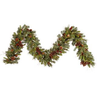 Vickerman Cibola Mix 9-foot x 14-inch Garland With 100 Clear Dura-lit Lights