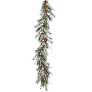 Vickerman 6-foot x 13-inch Big Fork Pine Garland with Cones and 55 Tips