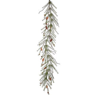 Vickerman 6-foot x 20-inch River Pine Garland With Cones and 88 Tips