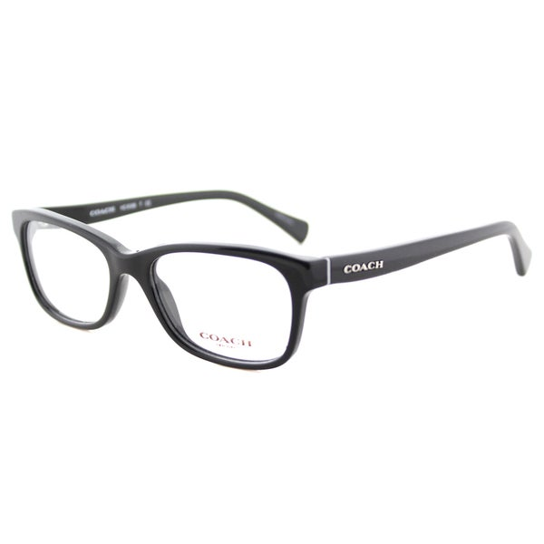 1e4fa2c462 Shop Coach HC 6089 5002 Black Plastic Rectangle Eyeglasses - Free ...